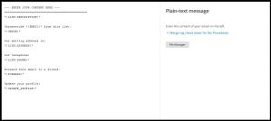 Plain- Text Καμπάνια στο MailChimp