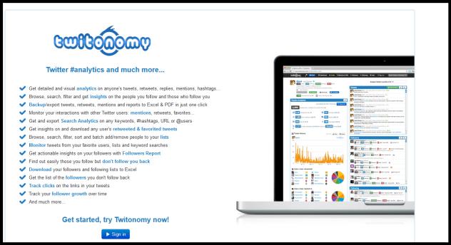 Ολοκληρωτική ανάλυση με το Twitonomy