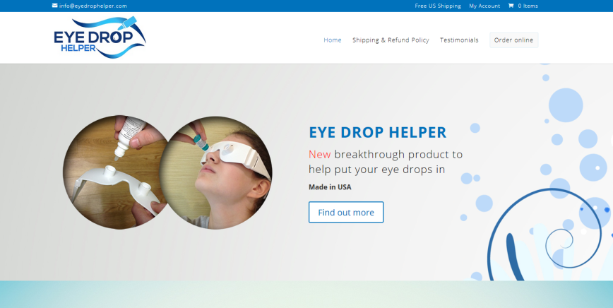 Eye Drop Helper http://www.eyedrophelper.com