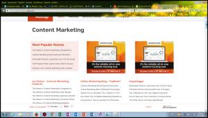 Επέλεξα την κατηγορία Content Marketing και εμφανίστηκαν τα καλύτερα blogs