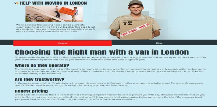 http://www.manwithavaninlondon.co.uk